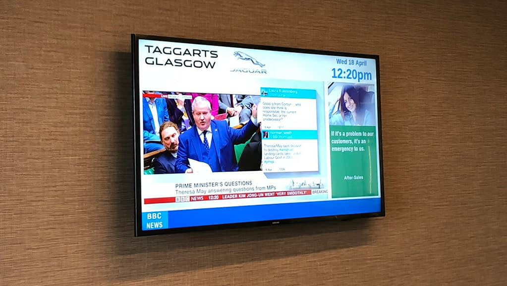 TVC Digital Signage in the work place