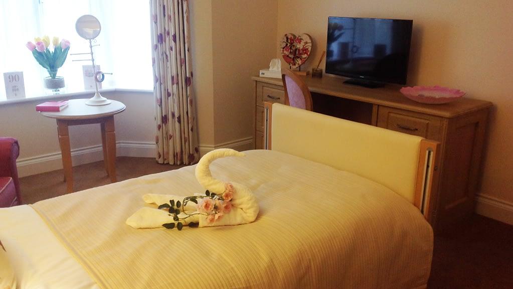 Hallmark Carehome bedroom technology
