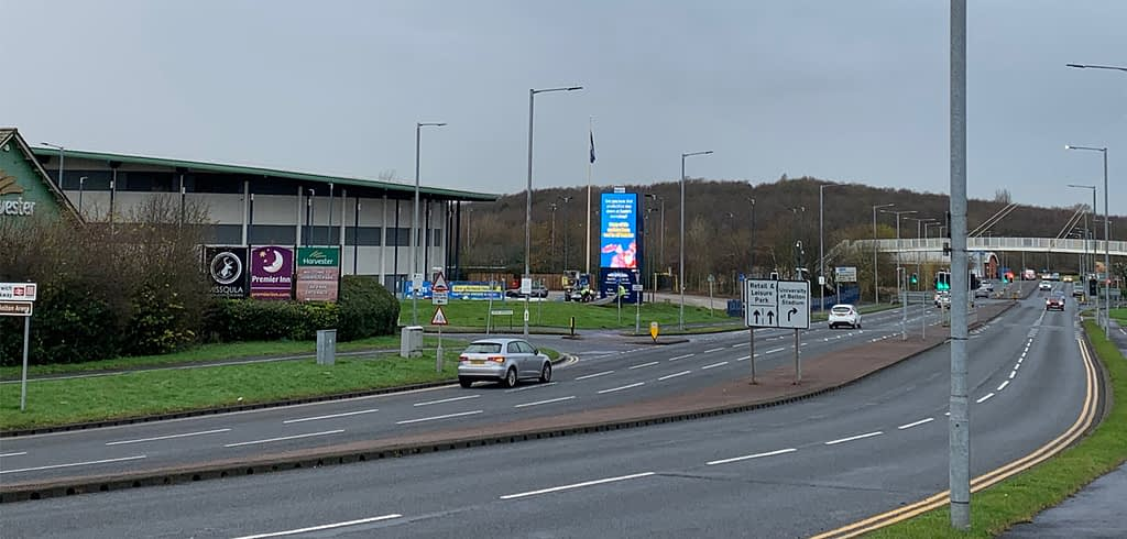 Gateway to Bolton Arena and Middlebrook Retail Park