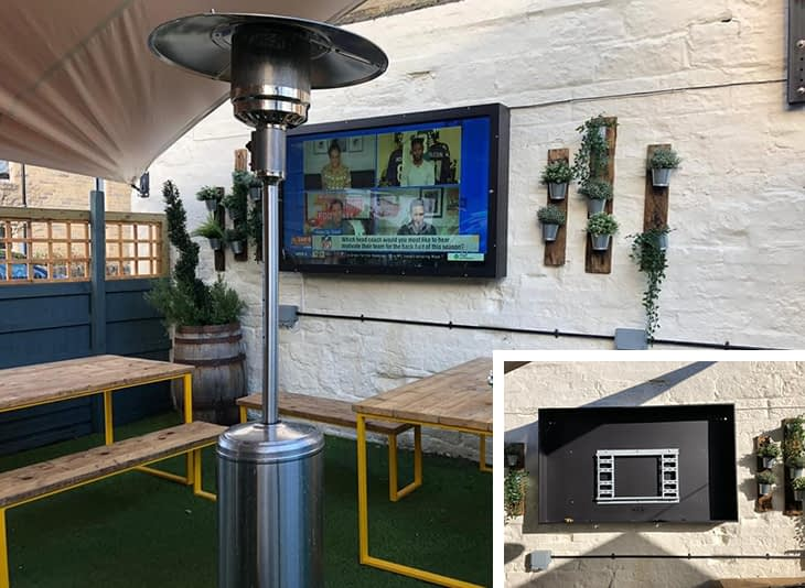 Outdoor TV install to increase outdoor revenue for pubs