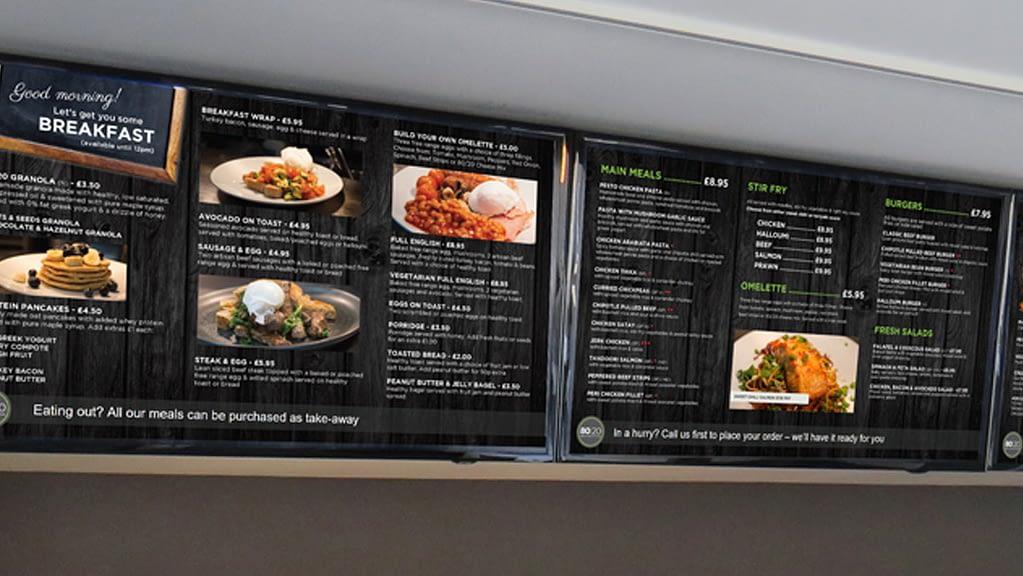 The 80/20 Heathbar has a new digital menu system