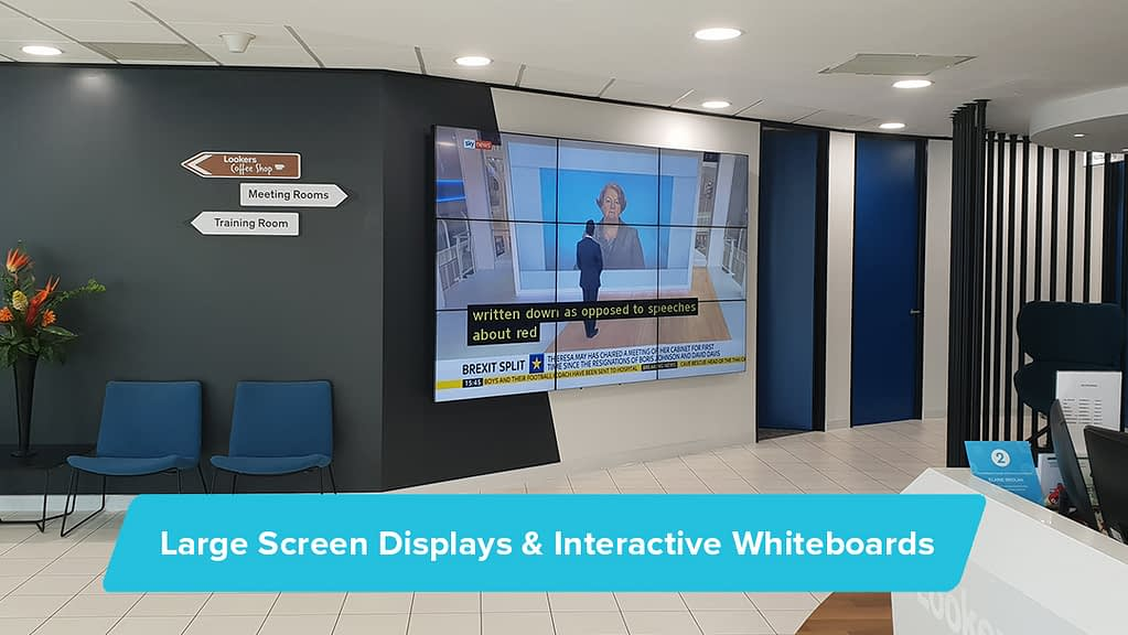 Large Screen Displays & Interactive Whiteboards